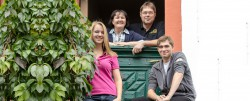 Familie Borchert, Michael, Gabriele, Johannes, Franziska
